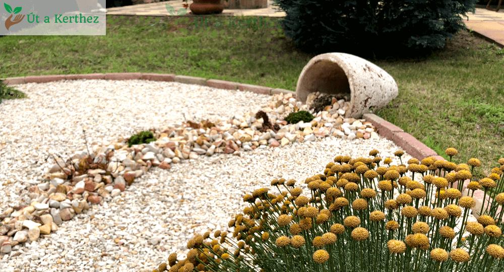 egyedi kaspós kerti dekoráció