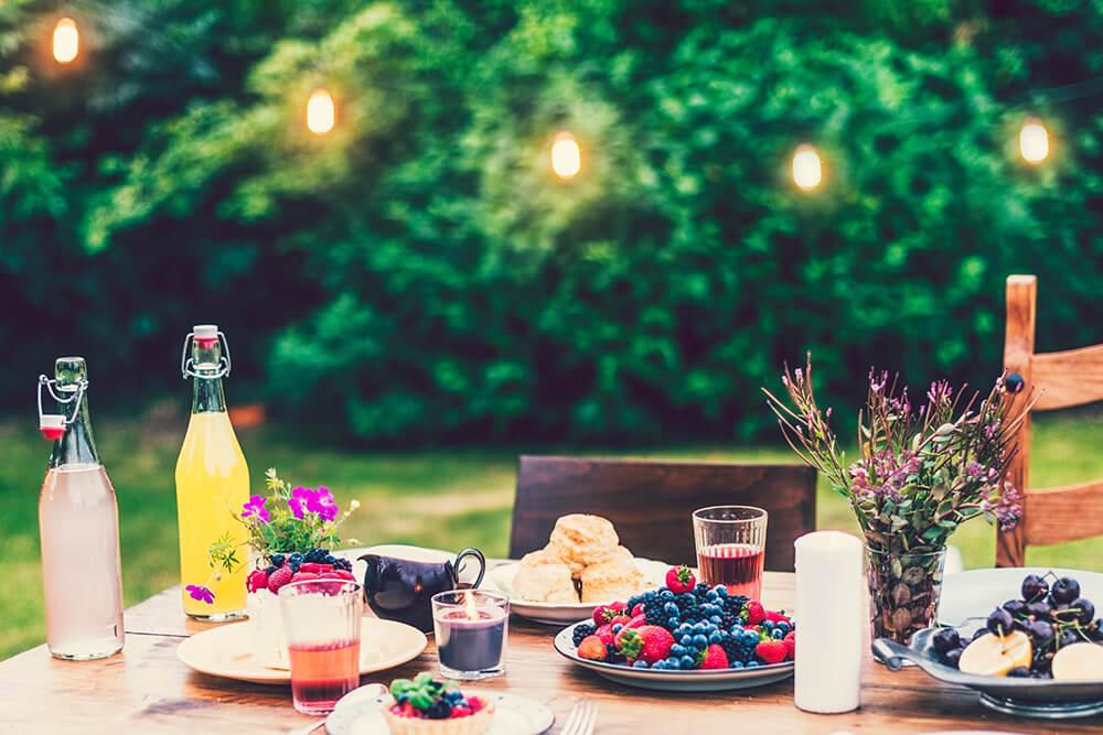 szép kert kép, kültéri konyha