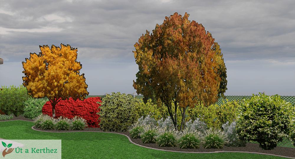 természetes kert őszi terve