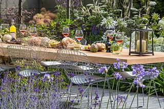 mediterrán kert összetevői