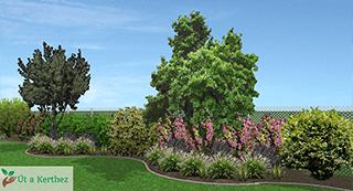 természetes kert nyári terve