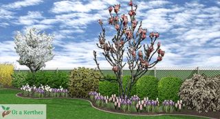 természetes kert tavaszi kertje
